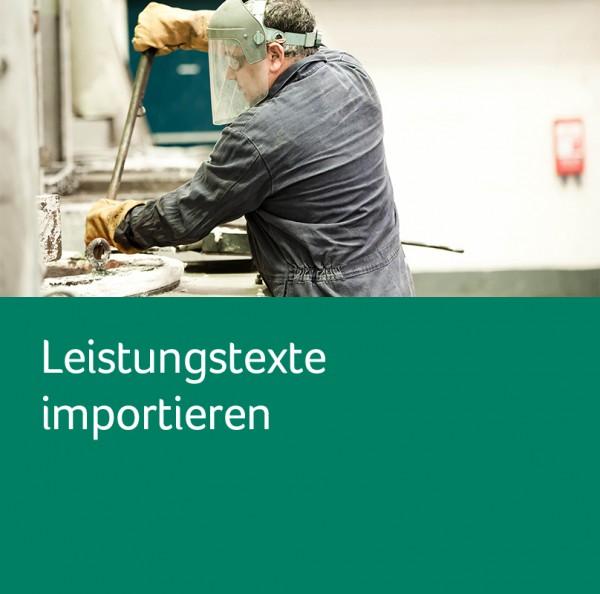 Leistungstexte importieren für Sage 50 Handwerk Professional